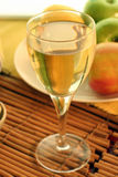 Fruity brew. Soft focus shot of a glass of cider or fruit wine Royalty Free Stock Photos