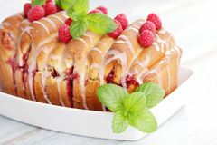 Fruity brioche Stock Image