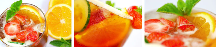 Fruity cocktail Stock Image