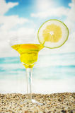 Fruity cocktails in the beach Royalty Free Stock Images