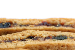 Fruity cookies. Bars use as backgroud Stock Photography
