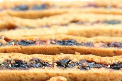 Fruity cookies. Bars use as backgroud Stock Photo