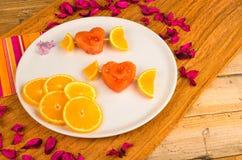 Fruity dessert royalty free stock photography