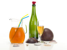 A fruity drink Royalty Free Stock Images