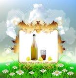 Fruity drink illustration Stock Images