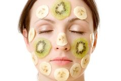 Fruity Face Treatment Royalty Free Stock Photography
