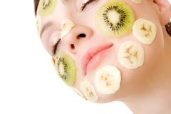 Fruity Face Treatment royalty free stock photo