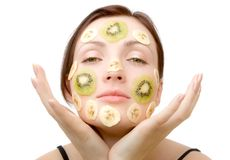 Fruity Face Treatment Royalty Free Stock Photos
