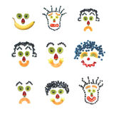 Fruity faces Royalty Free Stock Photos