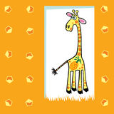Fruity giraffe Royalty Free Stock Images