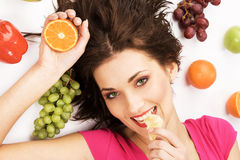 Fruity girl Royalty Free Stock Photos
