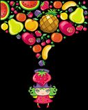 Fruity girl Stock Images