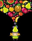 Fruity girl Royalty Free Stock Photography