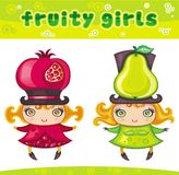 Fruity girls series 2 Royalty Free Stock Photos
