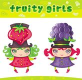 Fruity girls series 6 Stock Photo