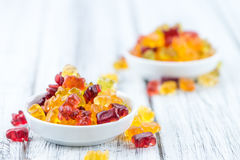 Fruity Gummy Bears (close-up shot) Stock Photography