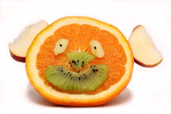 Fruity happy face Royalty Free Stock Photos