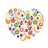 Fruity heart Stock Photos