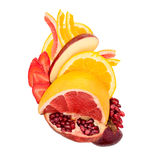 Fruity heart. Royalty Free Stock Images