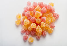 Fruity jelly beans sprinkled with sugar Royalty Free Stock Photos