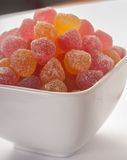Fruity jelly beans sprinkled with sugar Royalty Free Stock Images