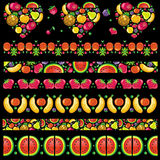 Fruity juicy patterns royalty free illustration