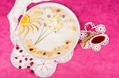 Fruity kid dessert Stock Image
