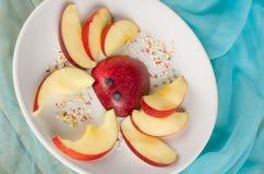 Fruity kid dessert Stock Images