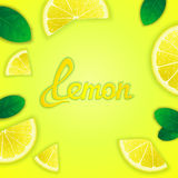 Fruity lemon background Royalty Free Stock Images