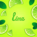 Fruity lime background Stock Photography