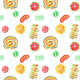 Fruity lollipops sweet bright colors candies Stock Photos