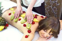 Fruity massage Royalty Free Stock Image
