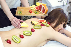 Fruity massage Stock Photography