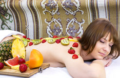 Fruity massage Royalty Free Stock Photos