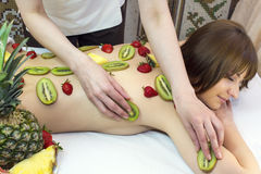 Fruity massage Stock Photo