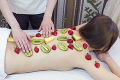 Fruity massage Stock Photos