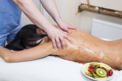 Fruity massage Royalty Free Stock Images