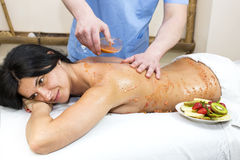 Fruity massage Stock Images