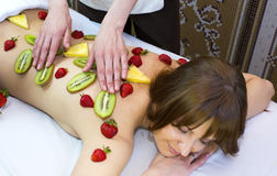Fruity massage Royalty Free Stock Photo