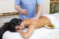 Fruity massage Stock Image