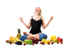 Fruity meditation Stock Image