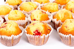 Fruity muffins Stock Photos