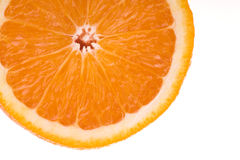 Fruity orange macro Stock Images