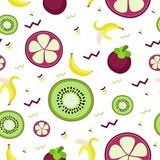 Fruity pattern on a colored background Royalty Free Stock Image