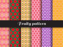 Fruity pattern Royalty Free Stock Images