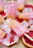 Fruity pink popsicles Stock Photography