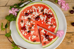 Fruity pizza Royalty Free Stock Images