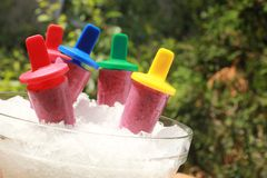 Fruity popsicle Stock Photos