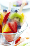 Fruity popsicle sticks Royalty Free Stock Photo