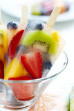 Fruity popsicle sticks Royalty Free Stock Image